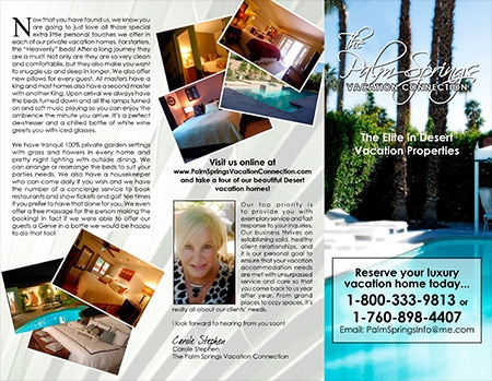 BROCHURE - PALM SPRINGS VACATION CONNECTION