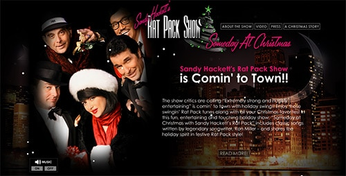 WEBSITE - SANDY HACKETT'S RAT PACK CHRISTMAS (ARCHIVES)