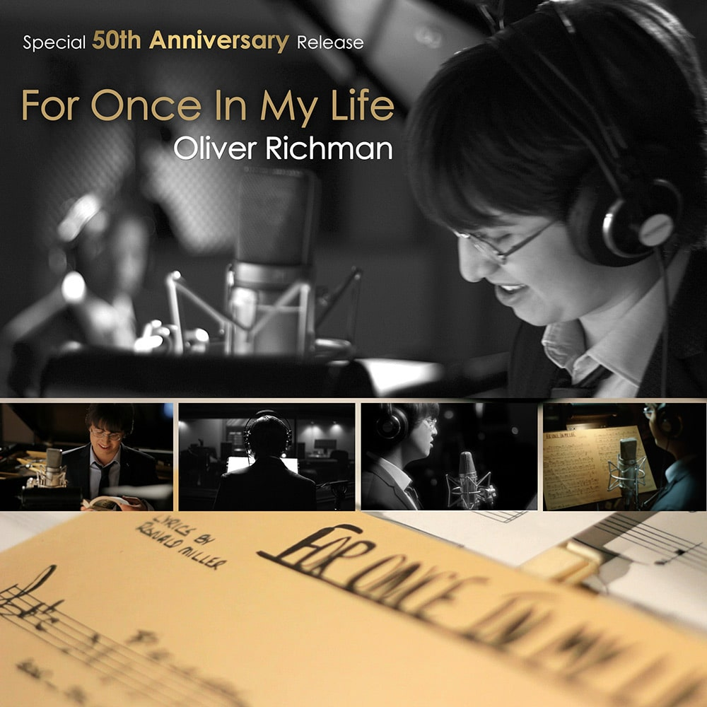 """COVER ART - OLIVER RICHMAN """"FOR ONCE IN MY LIFE"""""""
