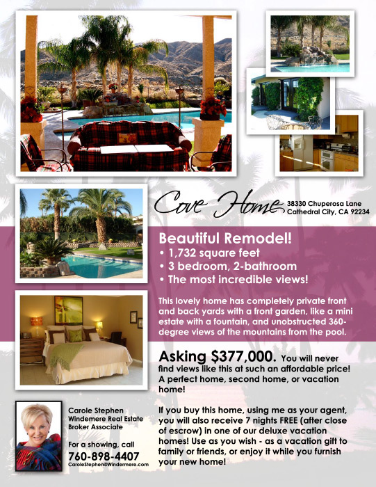 FLYER - PALM SPRINGS VACATION CONNECTION