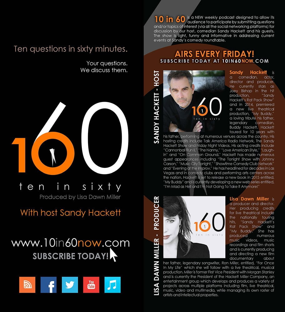 RACK CARD - 10 IN 60 NOW