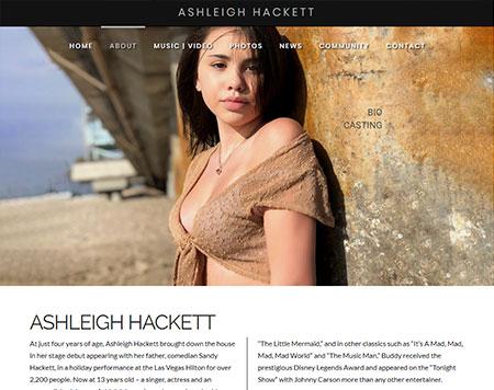 Website design - Ashleigh Hackett
