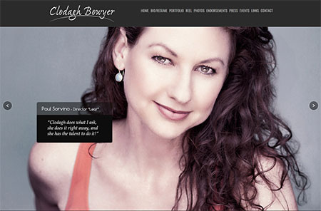 WEBSITE - CLODAGH BOWYER  -  VIEW LIVE SITE