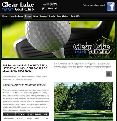 WEBSITE - CLEAR LAKE GOLF CLUB -  VIEW LIVE SITE