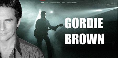 WEBSITE - GORDIE BROWN  -  VIEW LIVE SITE