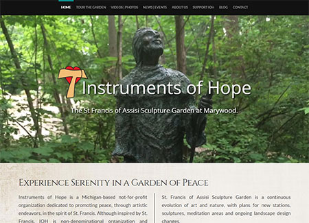 WEBSITE - INSTRUMENTS OF HOPE  -  VIEW LIVE SITE