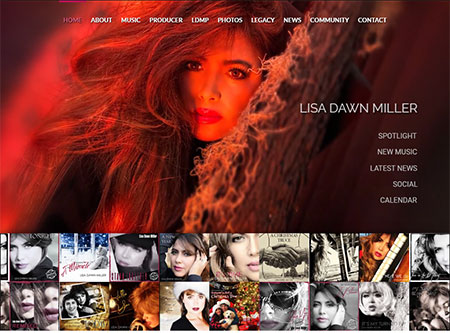 WEBSITE - LISA DAWN MILLER  -  VIEW LIVE SITE