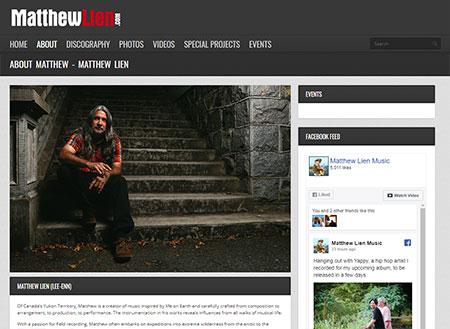 WEBSITE - MATTHEW LIEN  -  VIEW LIVE SITE