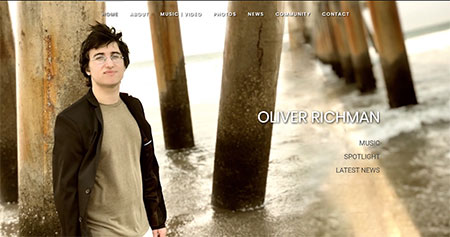 WEBSITE - OLIVER RICHMAN  -  VIEW LIVE SITE