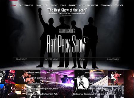 Website design - Sandy's Rat Pack