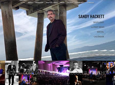 WEBSITE - SANDY HACKETT  -  VIEW LIVE SITE