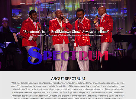 WEBSITE - SPECTRUM TRIBUTE TO MOTOWN  -  VIEW LIVE SITE